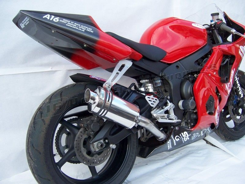 R6 03 05 a16 yamaha r6 stubby stainless exhaust 4 a16 for Best exhaust system for yamaha r6